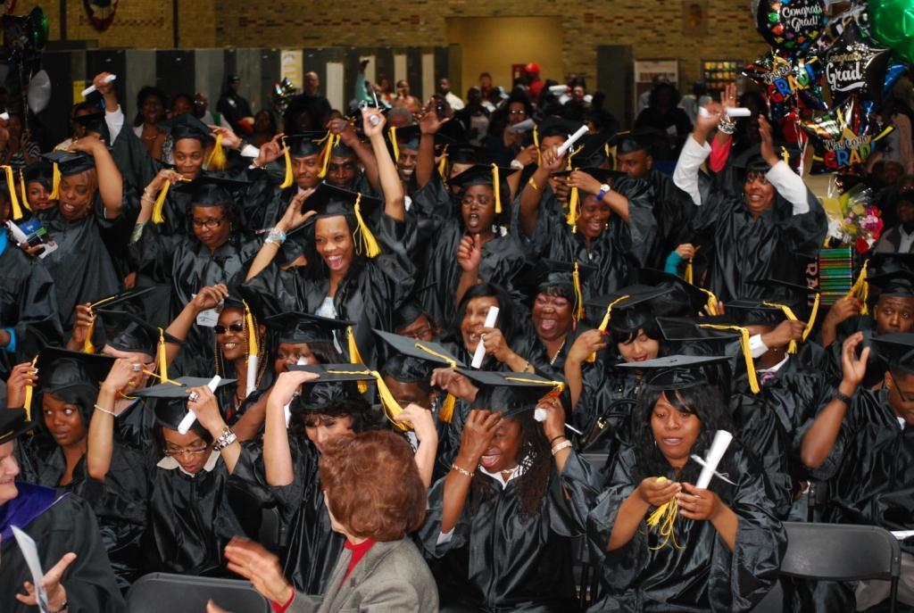Graduates of SDC's GED/HSED program celebrate.