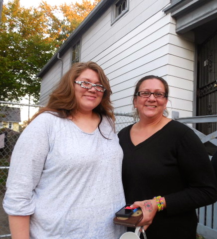 Bridgette Schulz (right) won the raffle and is the first in line to purchase the home. She attended the event with her daughter, Alexandria Goetzke.