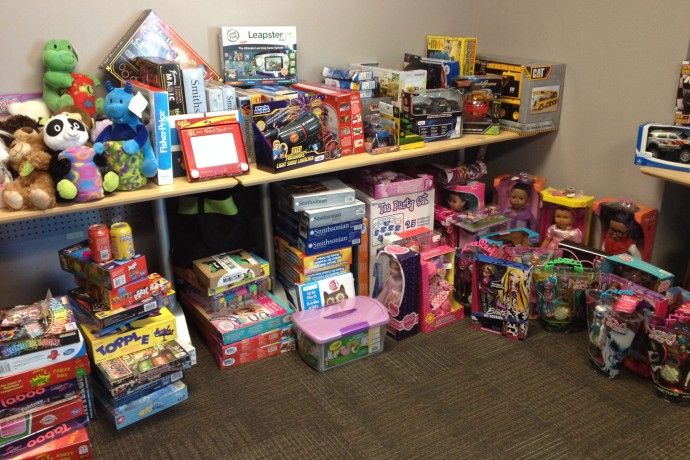 Young Milwaukee collected toys for needy children. (Photo courtesy of Zilber Family Foundation)