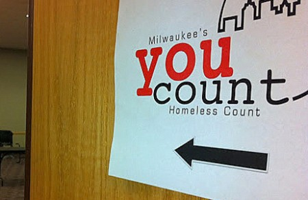 """A sign greets individuals to the """"You Count"""" event at the Hillside Family Resource Center. (Photo by Brendan O'Brien)"""