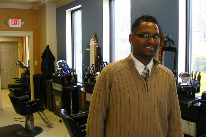 Entrepreneurs such as Raymond Wilder of KRS Hair Studio will be the focus of a new revolving loan fund. (Photo by Rick Brown)