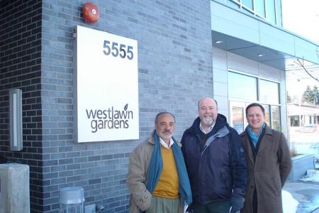 (left to right) Tony Perez, Warren Jones and Paul Williams were instrumental in developing Westlawn Gardens. (Photo by Kelly Meyerhofer)
