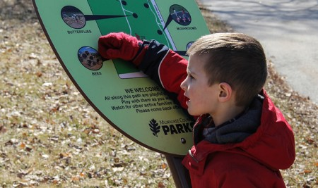 "Ben Tiedge was the youngest walker to participate in Washington Park's ""Walk with a Doc."" (Photo by Karen Slattery)"