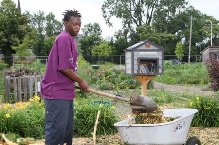 Dyrell Minor worked for the Center for Resilient Cities at Alice's Garden last summer as part of the Earn & Learn program. (Photo courtesy of Milwaukee Area Workforce Investment Board)