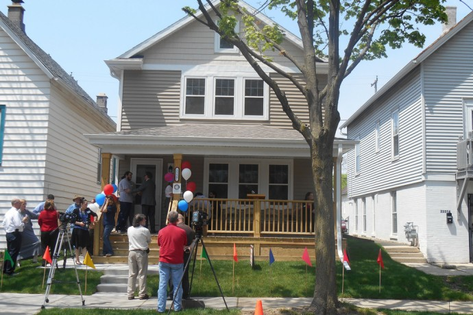 Milwaukee Christian Center's YouthBuild program holds an open house for the completion of its12th house. (Photo by Brittany Carloni)