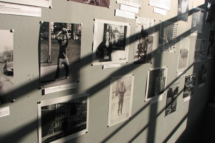 """Photos on display at the """"I Am Milwaukee Home"""" show. (Photo by Brittany Carloni)"""