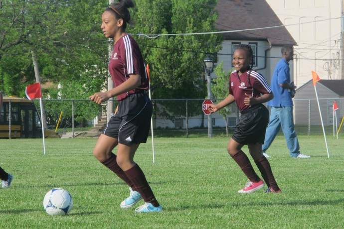 Hundreds of students from across the city met last week at the Fitzsimonds Boys and Girls Club in Metcalfe Park to close out the Soccer for Success season with a tournament. (Photo by Scottie Lee Meyers)