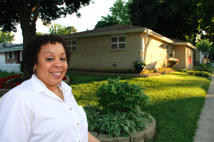 Linda Beard lives in the house that her mother purchased in 1994 with assistance from the city housing authority. (Photo courtesy of the Housing Authority of the City of Milwaukee)
