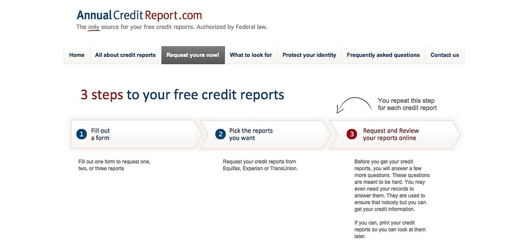 According to UW-Extension, AnnualCreditReport.com is a legitimate source for acquiring a free credit report. (Image courtesy of Annual Credit Report)