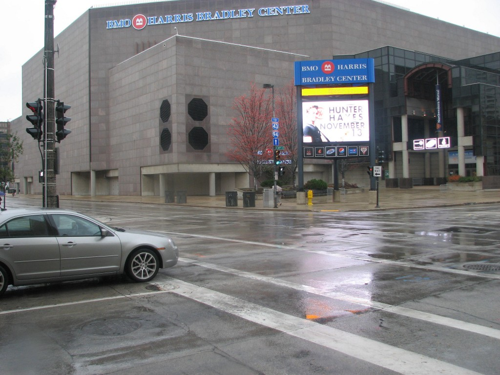 The BMO Harris Bradley Center in downtown Milwaukee. (Photo by Brendan O'Brien)