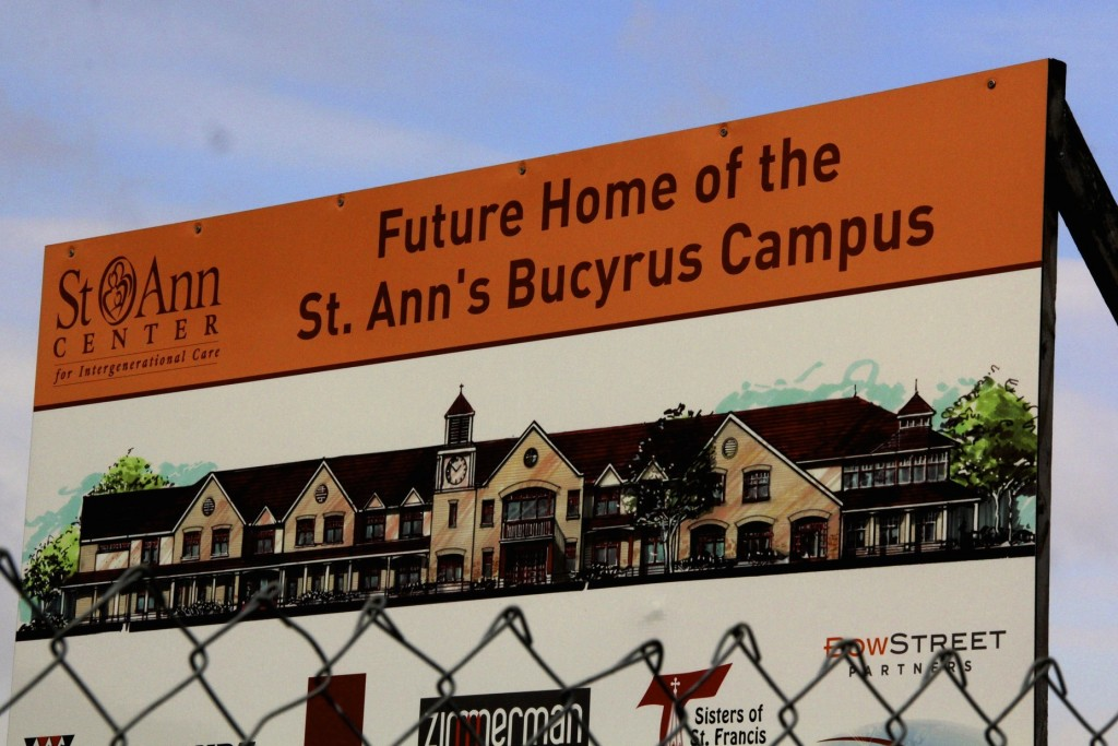 The new North Side campus of the St. Ann Center will include medical and dental clinics, classrooms, an indoor lap pool and an intergenerational playground. (Photo by Molly Rippinger)