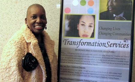 Dr. Ingrid Hicks, CEO of Transformation Services, Inc. in a training room at her company. (Photo by Andrea Waxman)