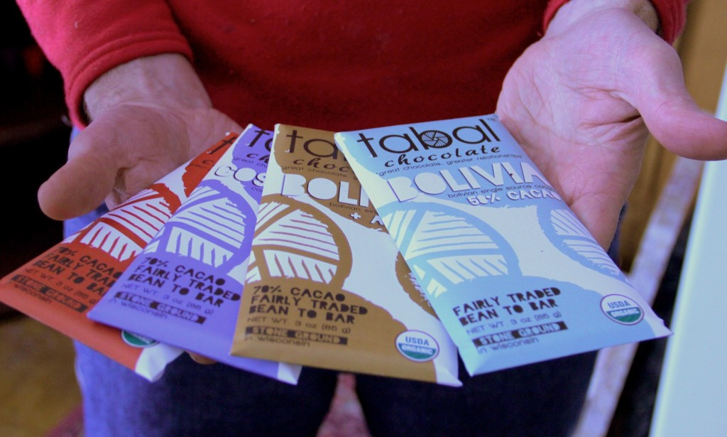 Tabal Chocolate, the only certified organic chocolate made in Wisconsin, is produced at 3329 W. Lisbon Ave. (Photo by Molly Rippinger)